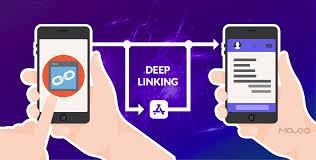 استفاده ازهایپرلینک برای لینک به یکی از صفحه های داخلی برنامه موبایل